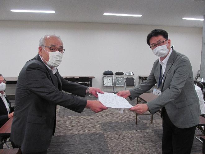 県知事への要請(井内雇用労働政策課長)